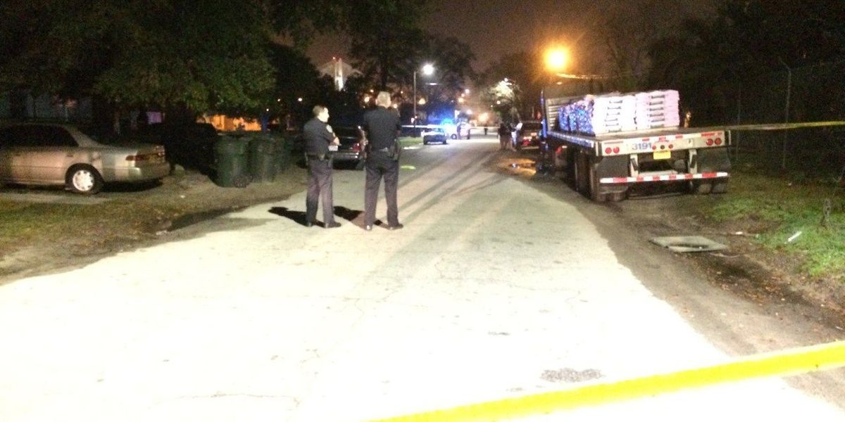 Male, female shot on Rogers Street in Savannah