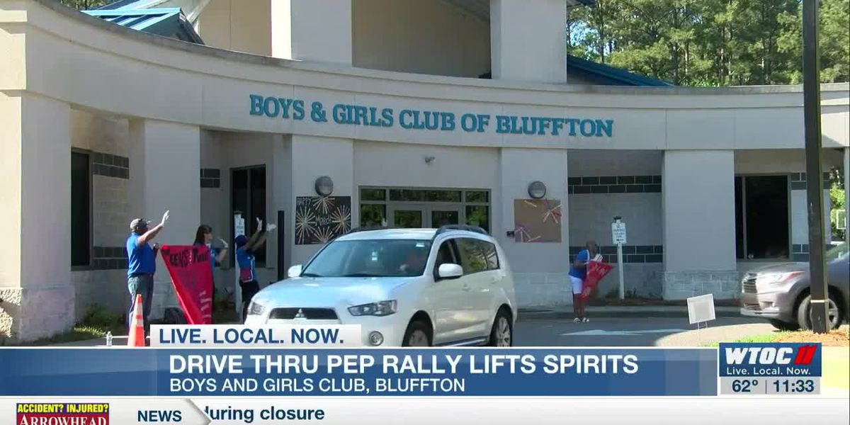 Drive-through pep-rally: Boys and Girls Club of Bluffton tries to uplift members during closure