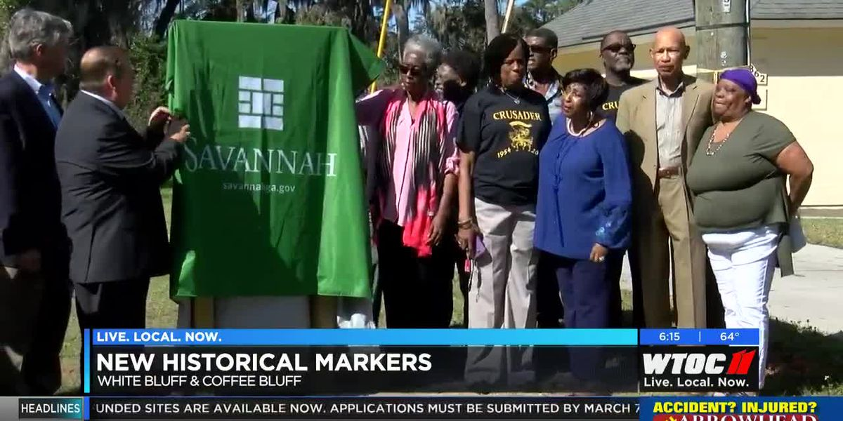 New historical markers in Savannah