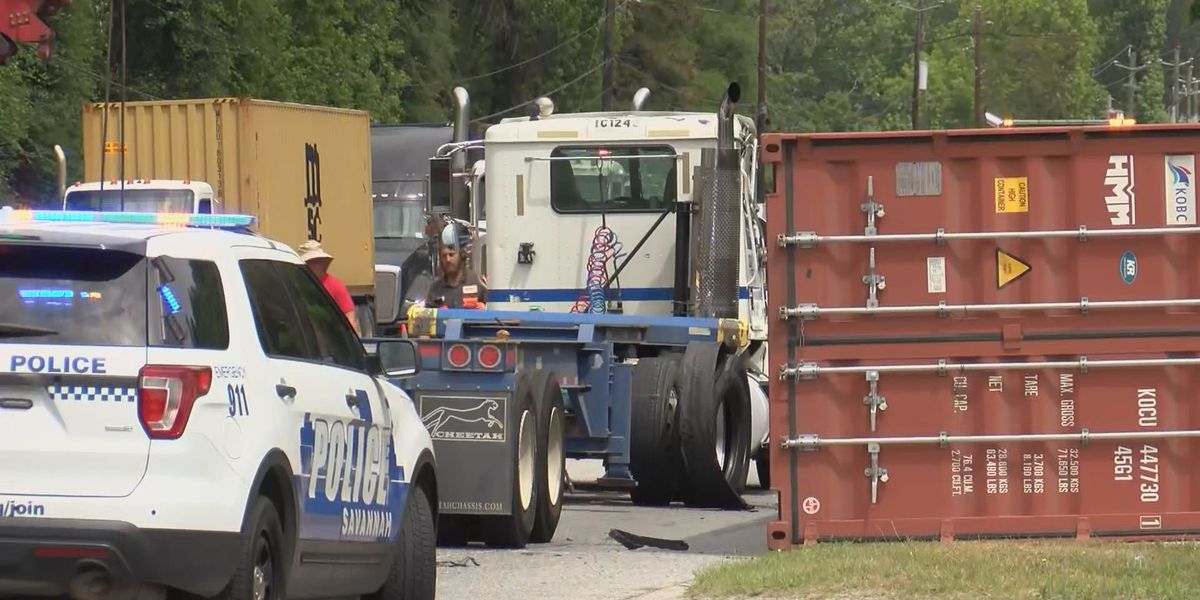 UPDATE: Dean Forest Road reopens after overturned semi-truck blocked northbound lanes