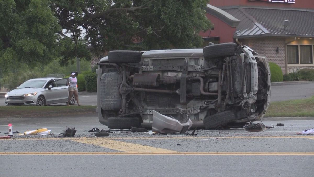 Two teenagers injured, one ejected in rollover car crash in Brunswick