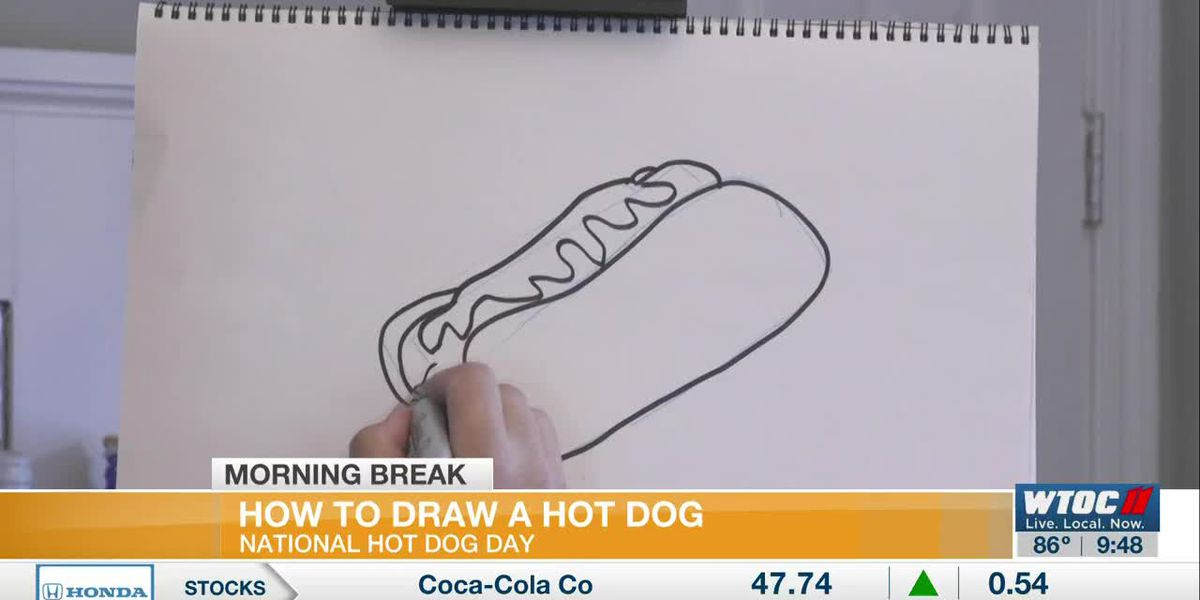 Learn to Draw: Making a cool hot dog