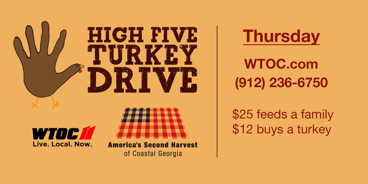 WTOC raises over $18,000 for Second Harvest's High Five Turkey Drive