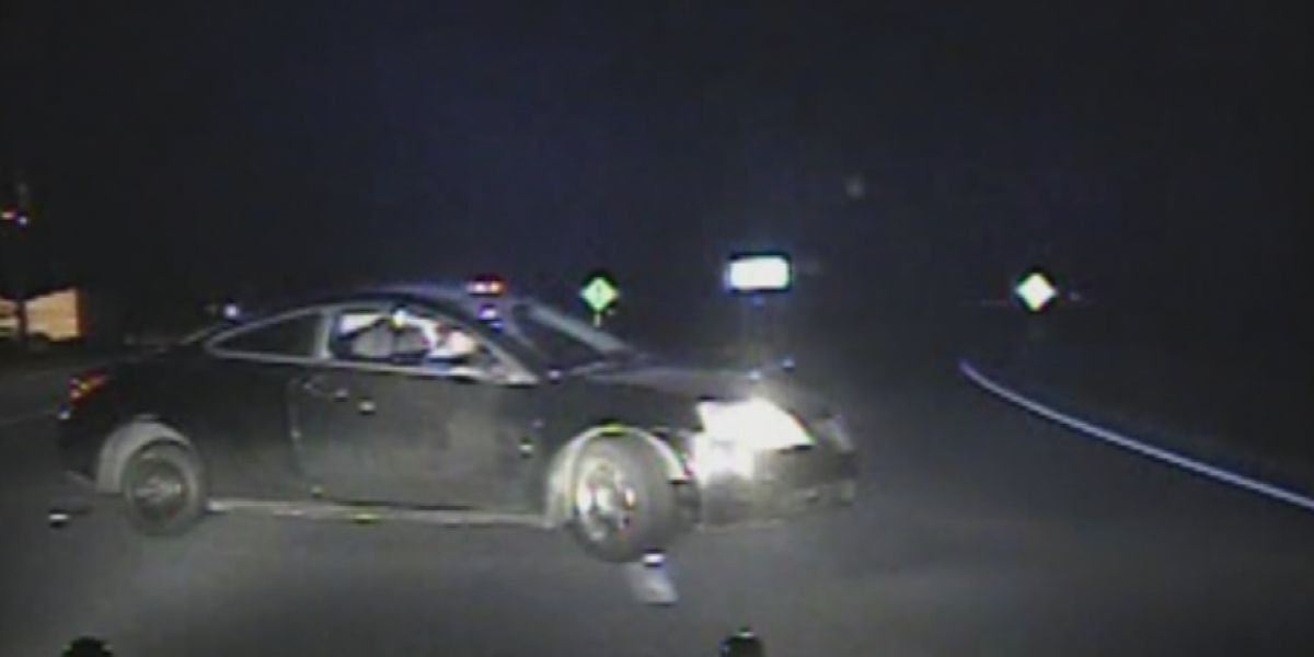 Dash cam footage shows high speed chase that led to trooper being fired