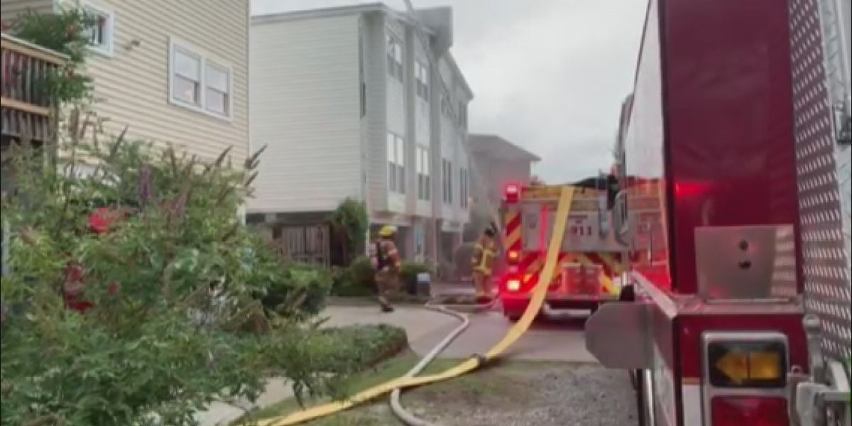 Emergency crews work Tybee house fire caused by lightning