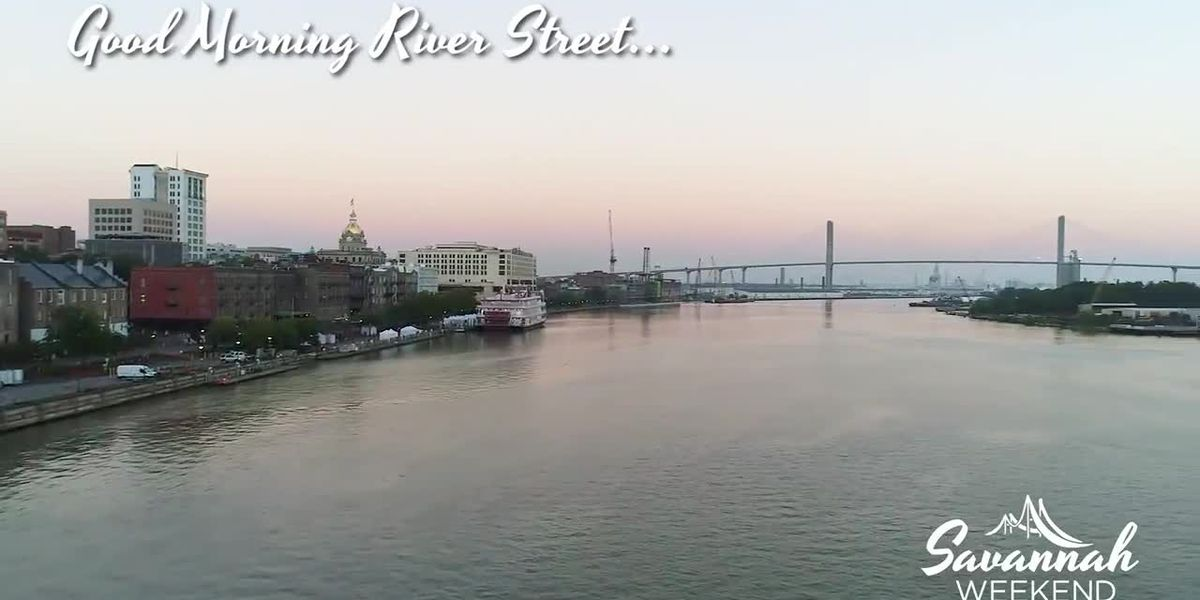 Drone footage of River Street