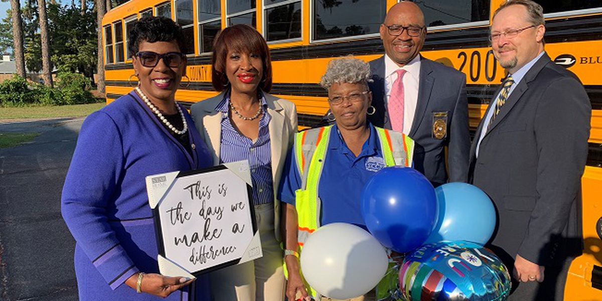 SCCPSS bus driver recognized for 33 years of service