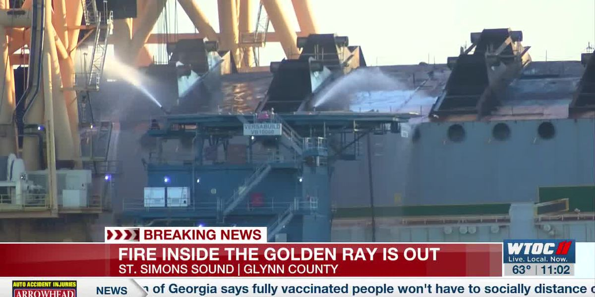 Golden Ray catches fire in the St. Simons Sound