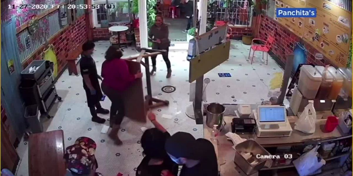 VIDEO: Restaurant owner defends family from attacking customer in Calif.