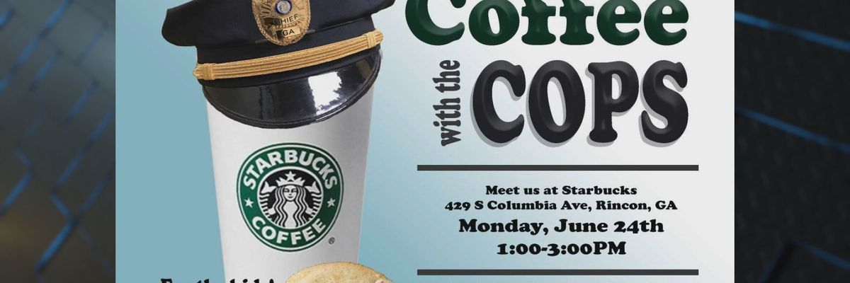 First 'Coffee with a Cop' event for the Rincon Police Department