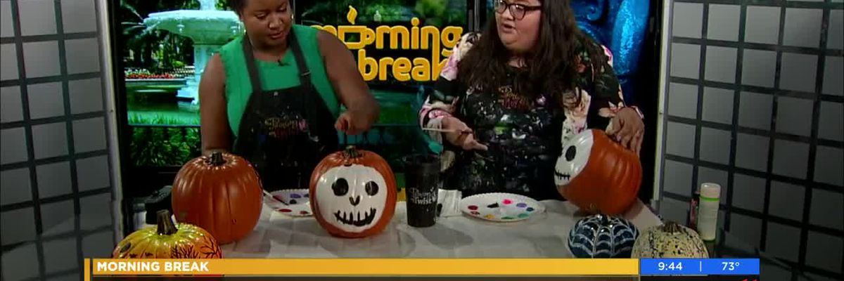Painting with a Twist Savannah: How to decorate a pumpkin