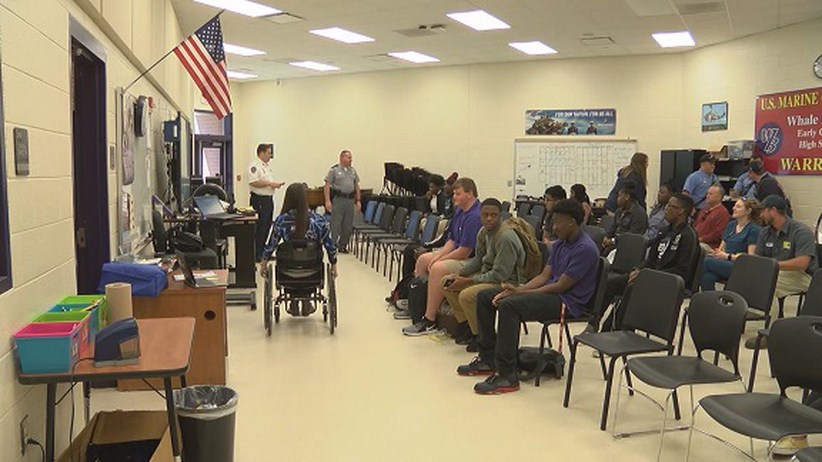 First responders reach out to students at Whale Branch High School about safe driving