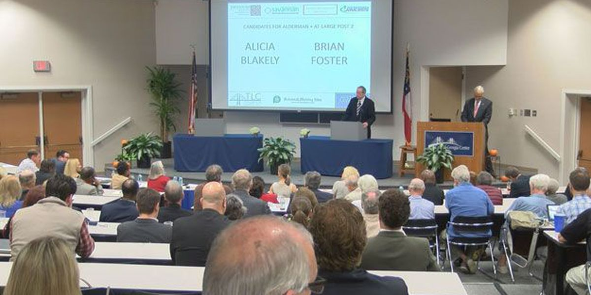 Runoff election candidate debate held at the Coastal Georgia Center