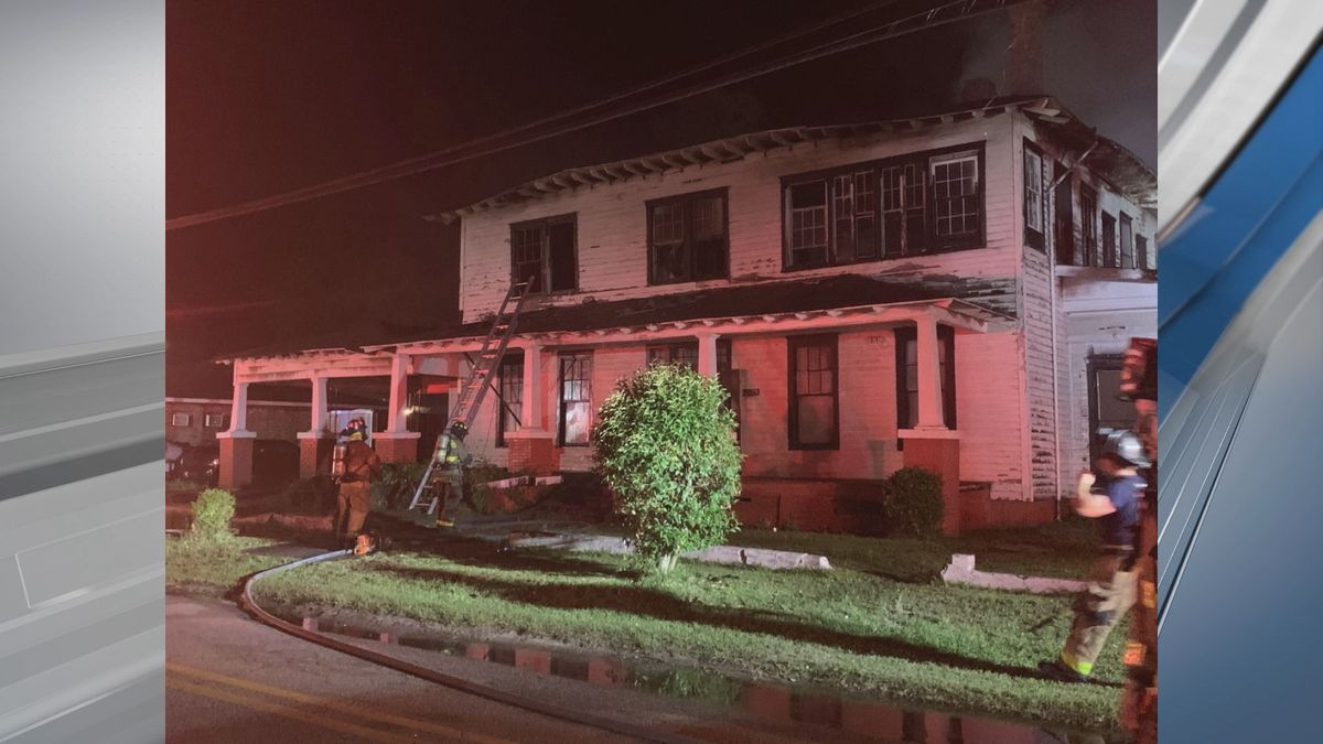 Fire damages historic hospital in Statesboro