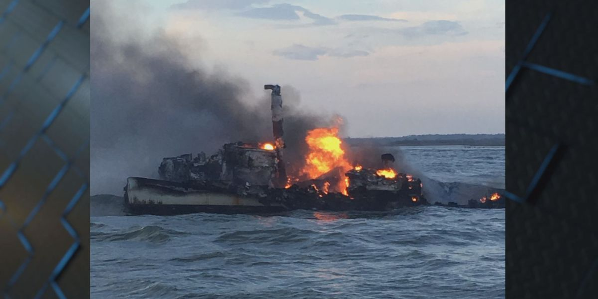 U.S. Coast Guard rescues 3 fishermen from boat fire off coast of St. Catherines Island