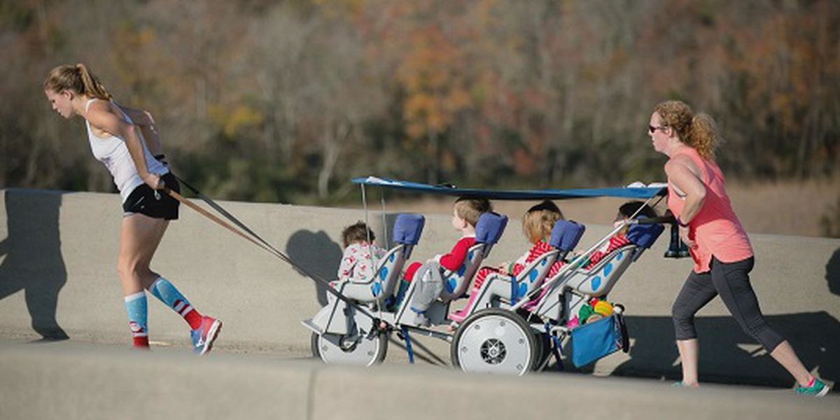 Good News: 'Quad Mom' runs races while pushing quadruplets