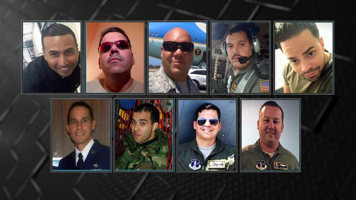 Memorial service held for 9 airmen killed in C-130 military plane crash