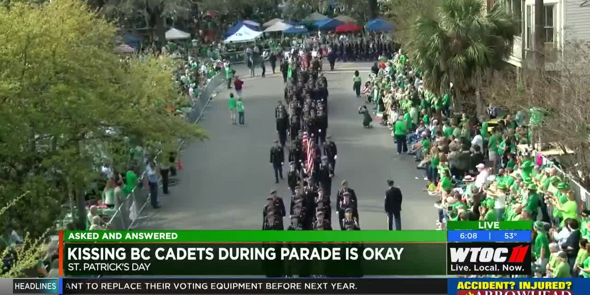 Asked and Answered: No kissing soldiers during St. Patrick's Day Parade