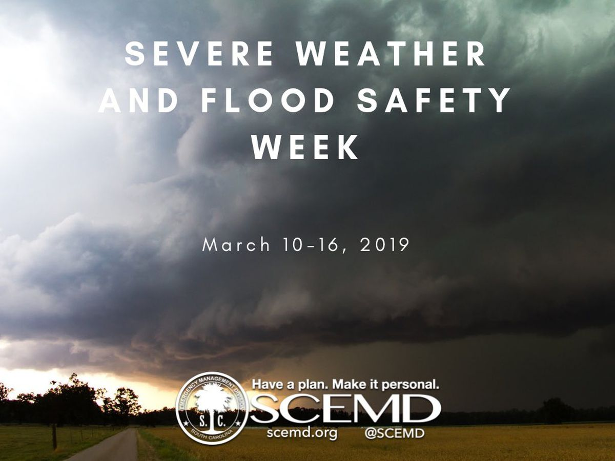 It's Severe Weather and Flood Safety Week in South Carolina - here's what you need to know