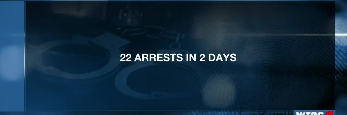 Savannah PD: 2-day task force operation results in 22 arrests
