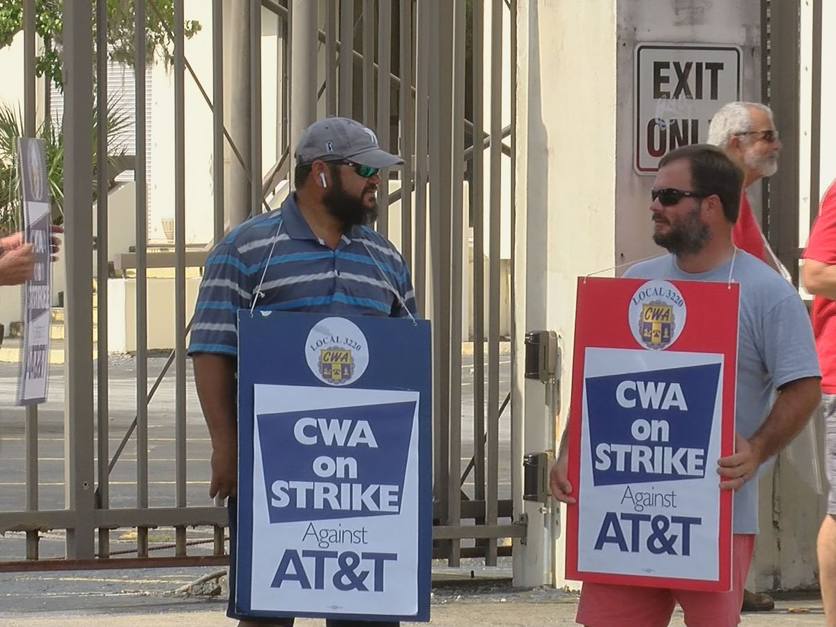 AT&T workers strike across the nation