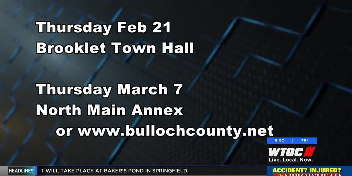 Bulloch County holding public input meetings