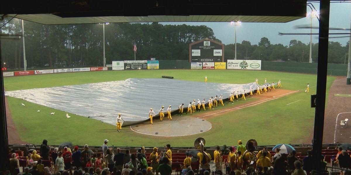 Savannah Bananas Saturday game rained out
