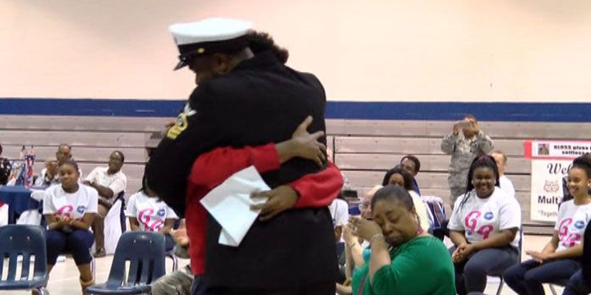 West Chatham Middle student surprised with father's return from deployment
