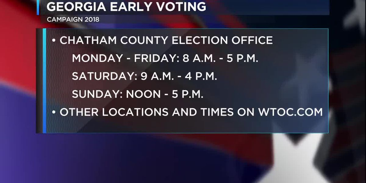 Advance In-Person Voting locations in Chatham County