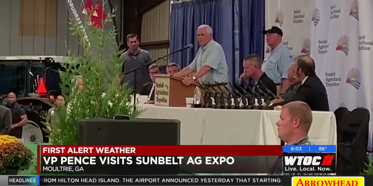 VP Mike Pence visits Sunbelt Ag Expo