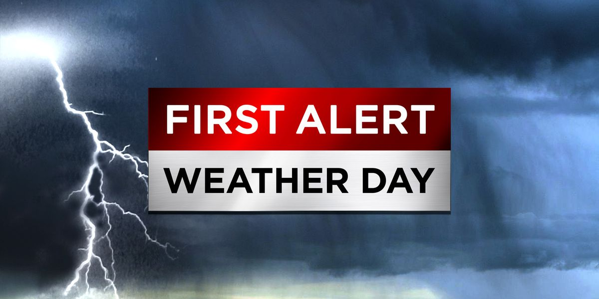 First Alert Weather Day: Windy Christmas Eve with afternoon, evening rain and storms