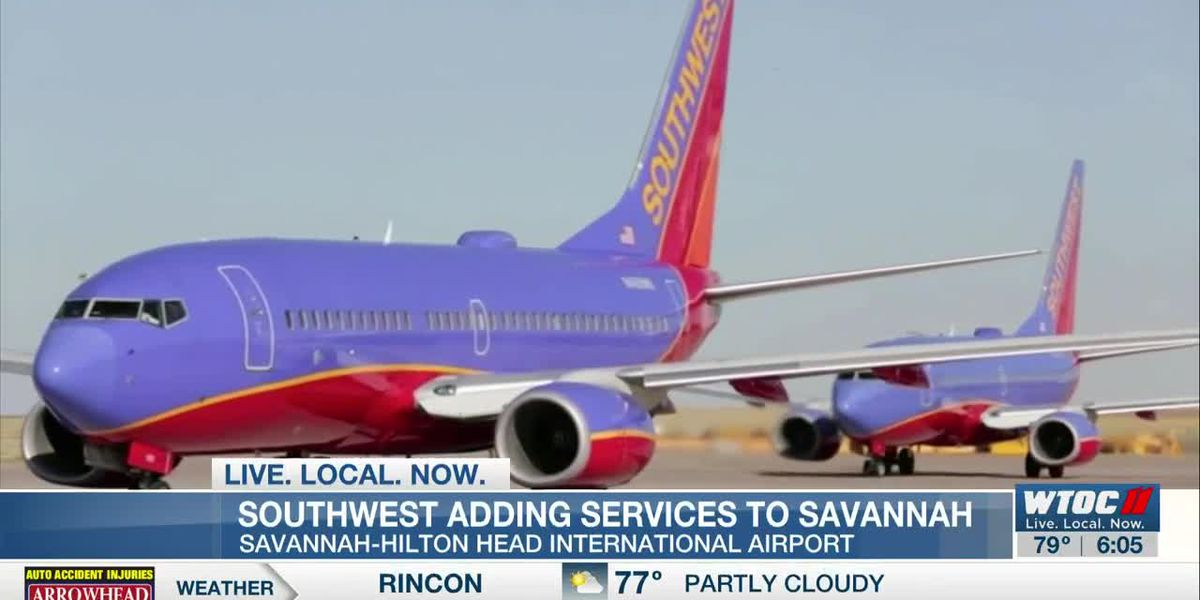 Southwest Airlines adding service to Savannah/Hilton Head International Airport