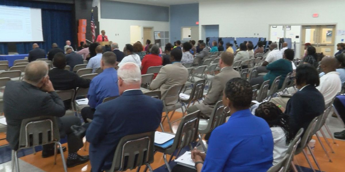 SCCPSS District 8 town hall held at Brock Elementary