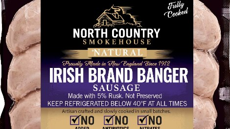 Over 2,000 pounds of pork sausages recalled due to misbranding