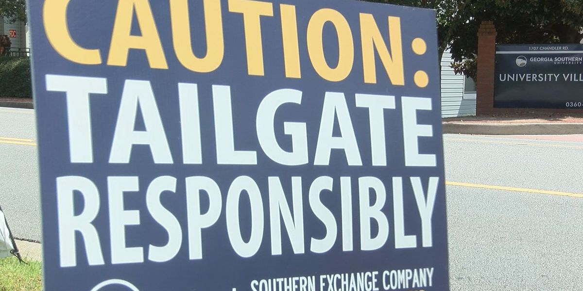Fans experience tailgating in the COVID era at Georgia Southern