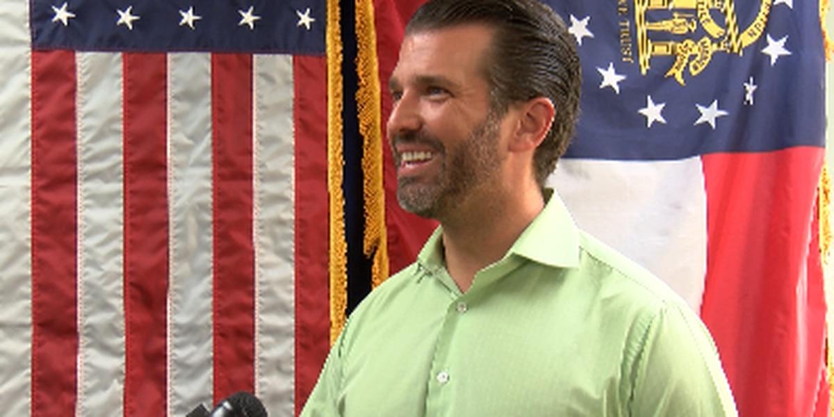Donald Trump Jr. talks about Savannah campaign rally
