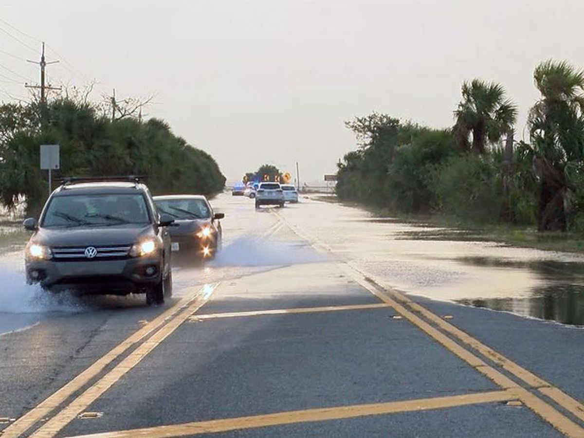 Coastal flooding during high tide possible along Hwy 80 this week