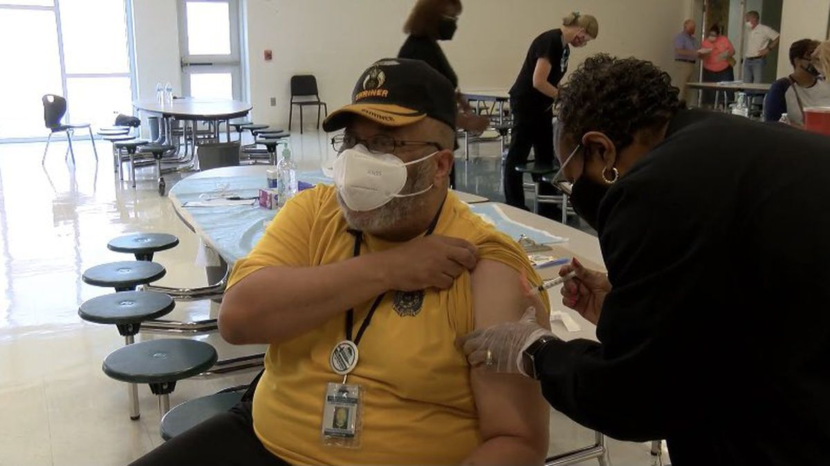 Hundreds of SCCPSS teachers and staff receive second dose of COVID-19 vaccine