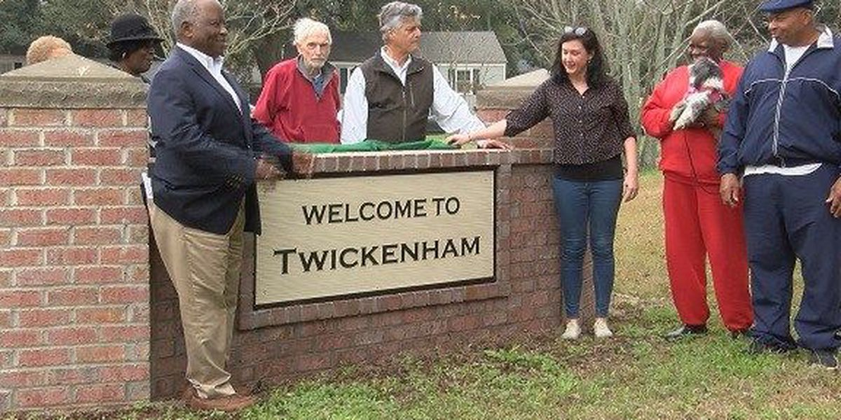 New sign unveiled in Twickenham Neighborhood off President Street