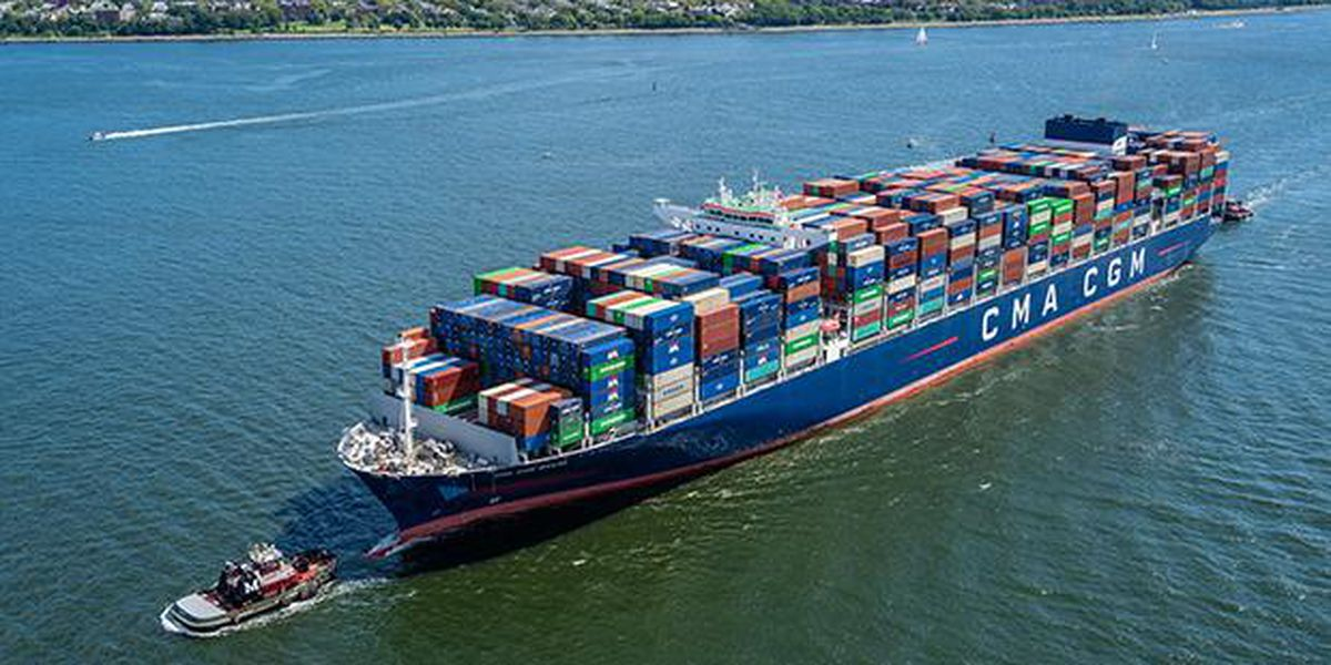 WATCH: Largest container ship to call on East Coast arrives in Savannah