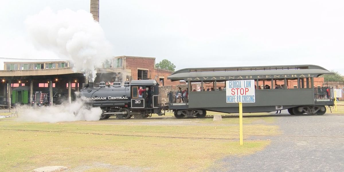 10th annual Savannah Santa train held at Georgia Railroad Museum