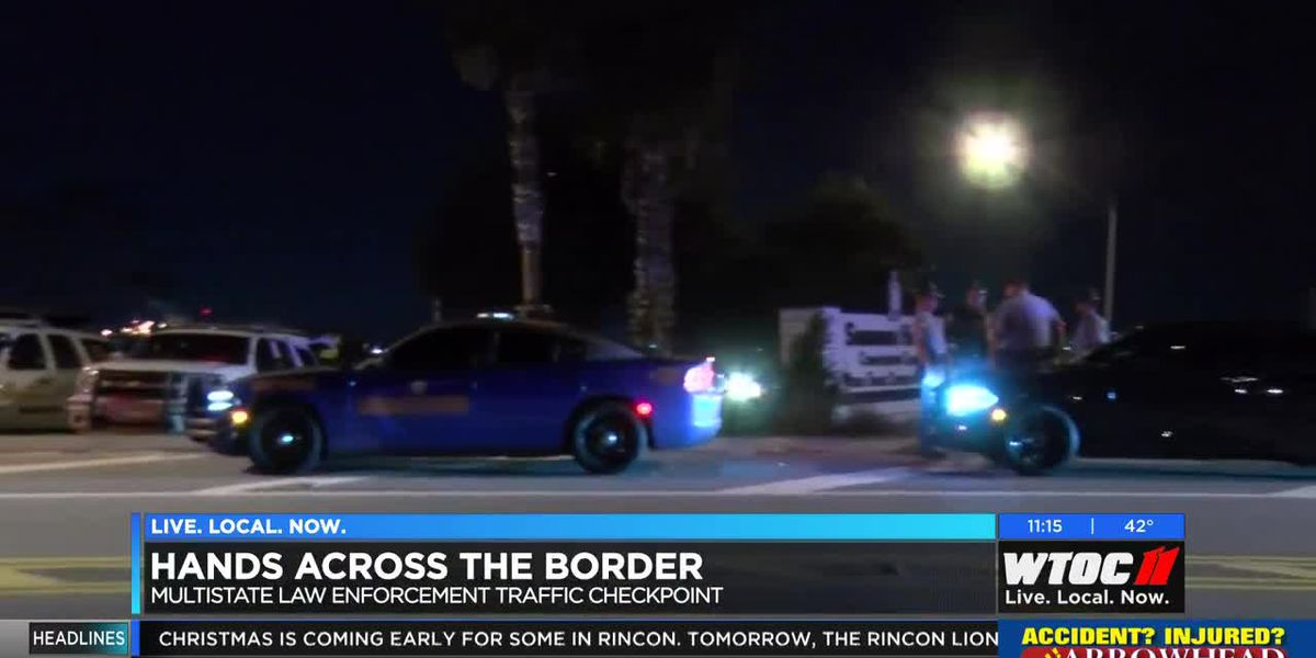 Law enforcement agencies team up for Hands Across the Border