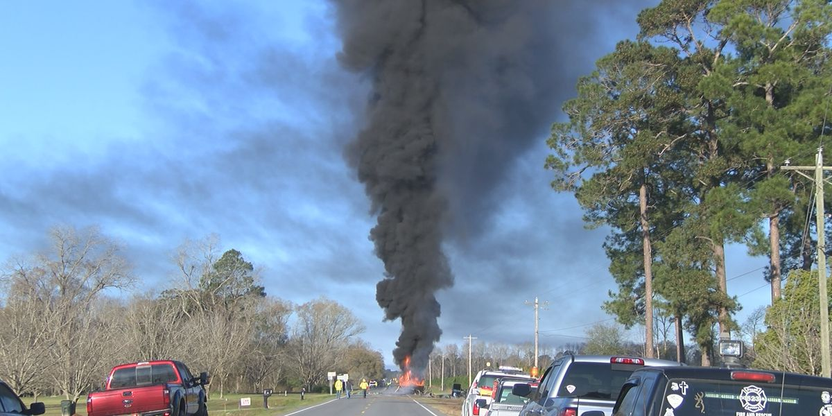 4 homes evacuated after 18-wheeler carrying 9,000 gallons of gasoline catches fire