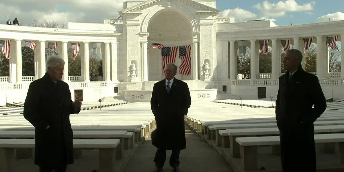 Former presidents team up on video honoring Biden