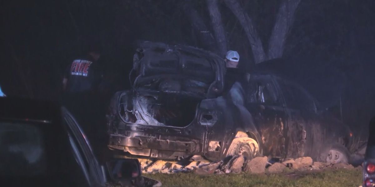 Three injured after driver crashes into backyard in Long County