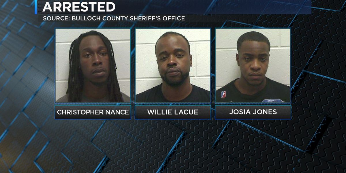 3 men arrested in Bulloch Co. after shooting linked to gang activity