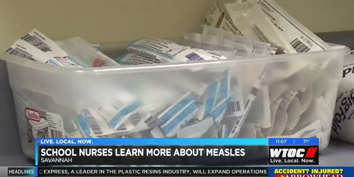 School nurses learn more about measles