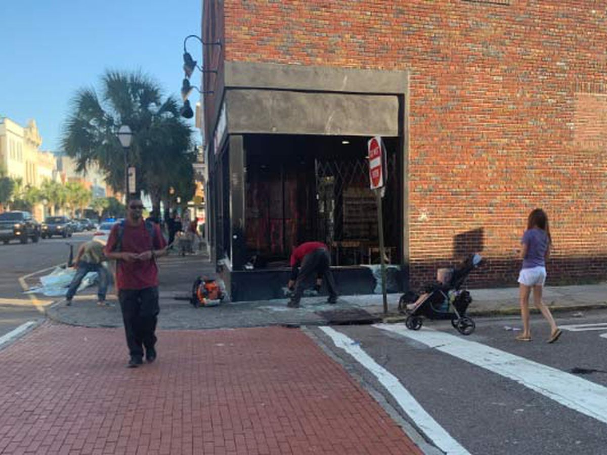Daylight reveals extent of damage downtown after protest turns to riot