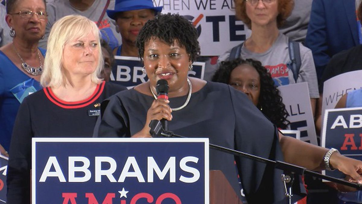 Stacey Abrams hosts early vote rally at Savannah State University