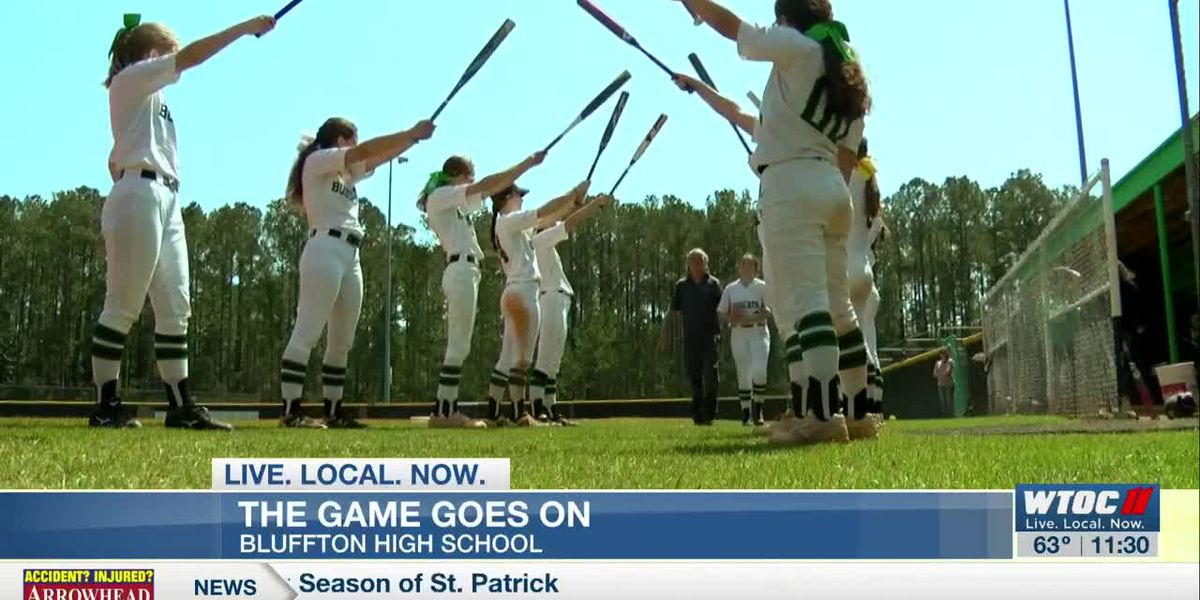 The game goes on: Bluffton High hosts softball double-header amid COVID-19 concerns